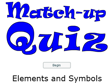 Starter or Plenary Game involving Matching Elements to their Symbols.