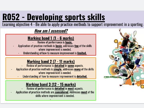 Cambridge Nationals Sports Studies - R052 Developing Sports Skill L04 bundle