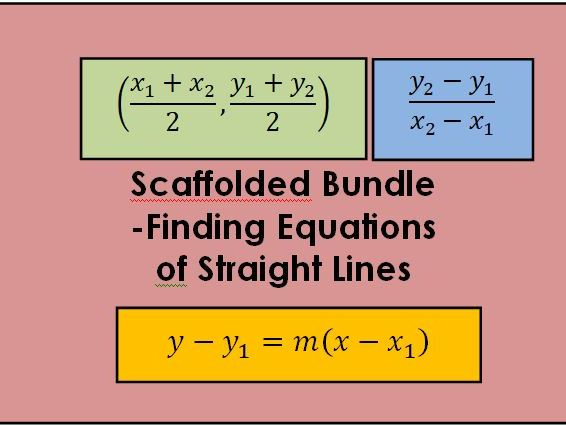 Scaffolded worksheets - Equations of Straight Lines