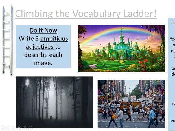 Improving descriptive vocabulary/ Descriptive writing
