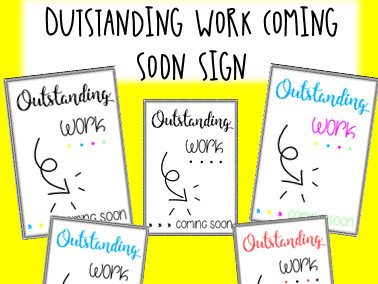 OUTSTANDING WORK COMING SOON - WOW wall printable