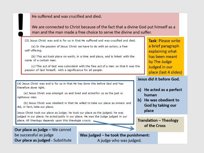 Karl Barth Text Analysis - Edexcel A level 2016