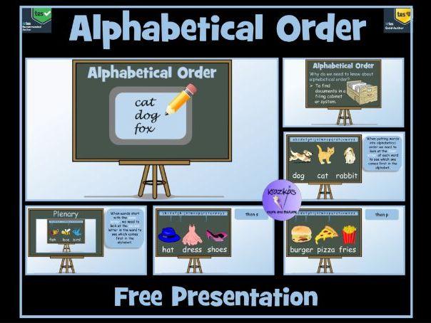 Alphabetical Order: Lesson Presentation