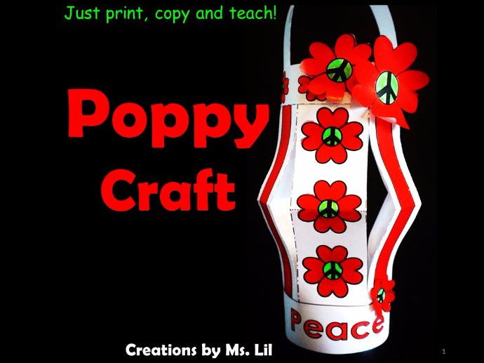 Poppy Craft  ::  Remembrance Day  ::  Memorial Day  ::  Anzac Day