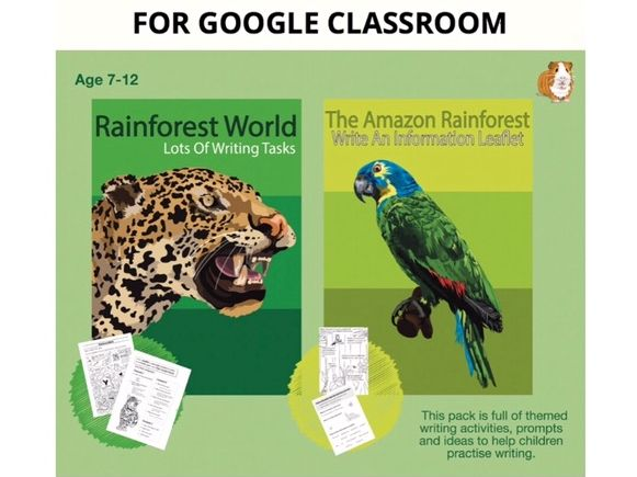 Lots Of Writing Tasks About The Rainforest: Digital Resource (7-12 years)