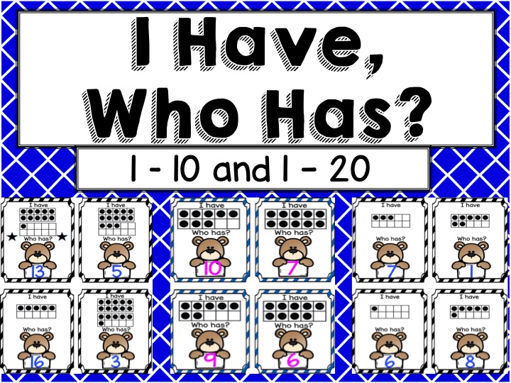 Number Recognition Game 1-20 (I have, Who has)