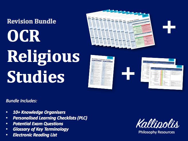 OCR Religious Studies KS5 Knowledge Organisers - Unit 2  Religion & Ethics Bundle