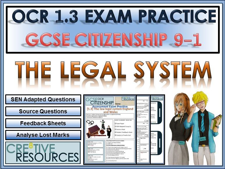 9-1 Citizenship OCR GCSE Exam Assessment: The Legal System in England and Wales