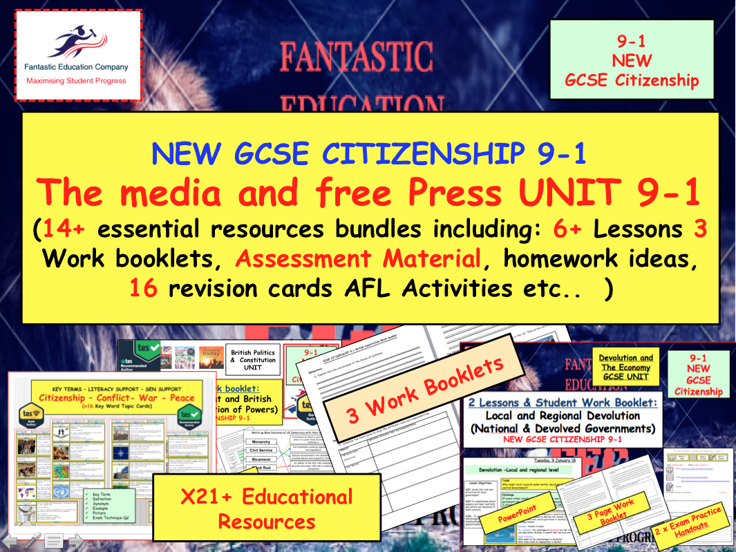 MEDIA AND FREE PRESS  UNIT NEW GCSE CITIZENSHIP 9-1.