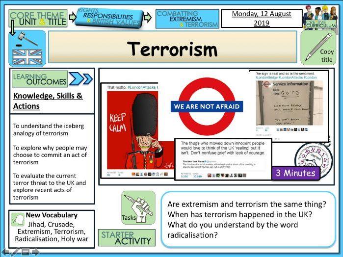 Terrorism Extremism PSHE