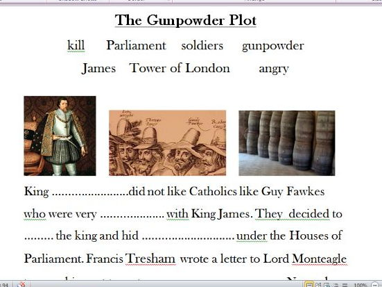 The Gunpowder Plot  (powerpoint and differentiated worksheets)