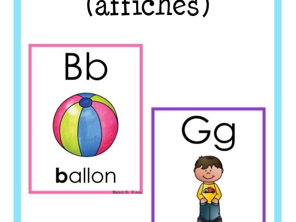 Affiches de l'alphabet