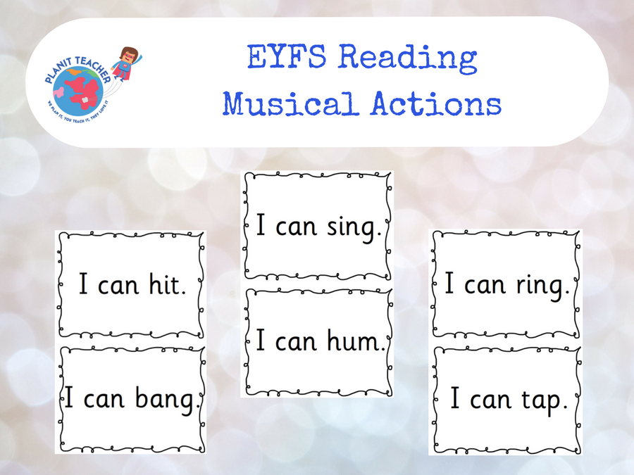 Musical Actions Reading Activity - EYFS Literacy
