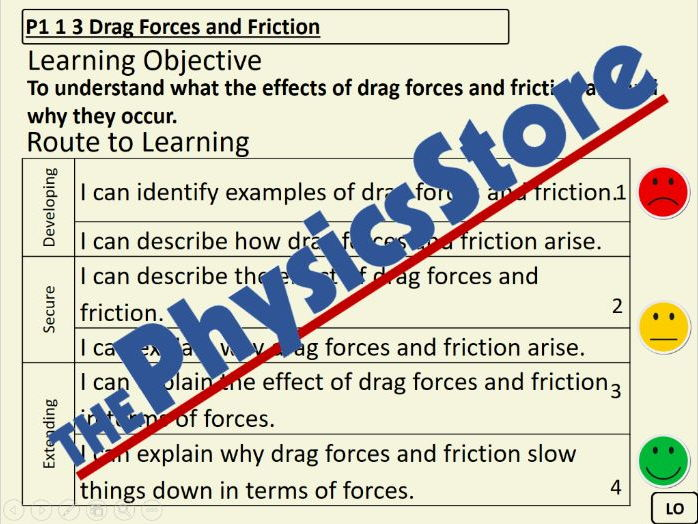 KS3 Physics P1 1 3 Drag Forces and Friction PowerPoint Presentation