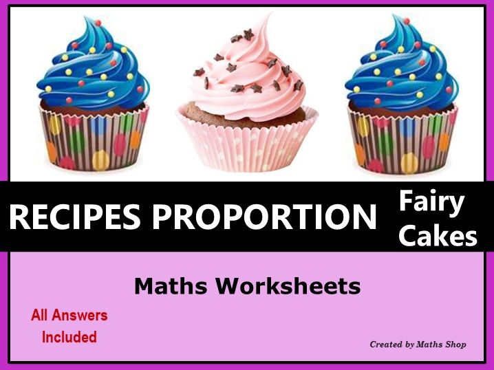 Proportion Ratio Recipe for Fairy Cakes Metric