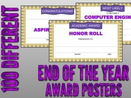 End of the Year Award Posters (Editable in Google Slides)