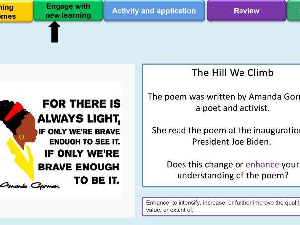 Amanda Gorman - The Hill We Climb - Inauguration Poem