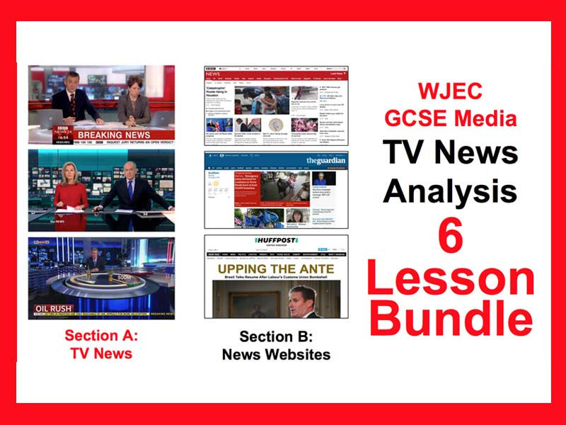 WJEC GCSE Media TV News 6 lesson bundle