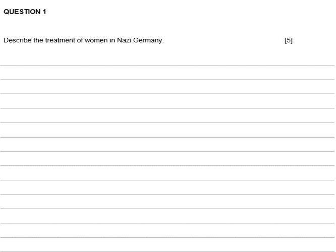 Eduqas GCSE History Germany 1919-1991 TWO MOCK GCSE PAPERS