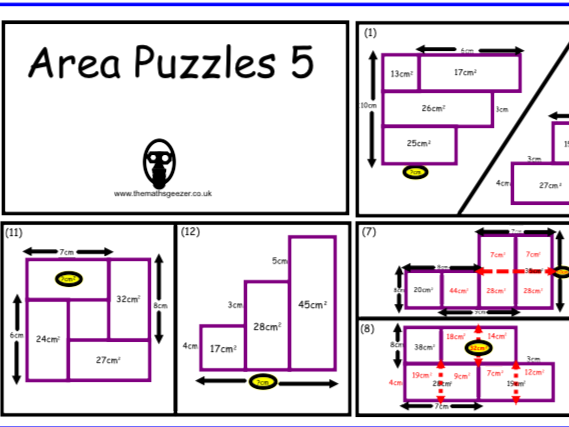 Area Puzzles 5 - PDF