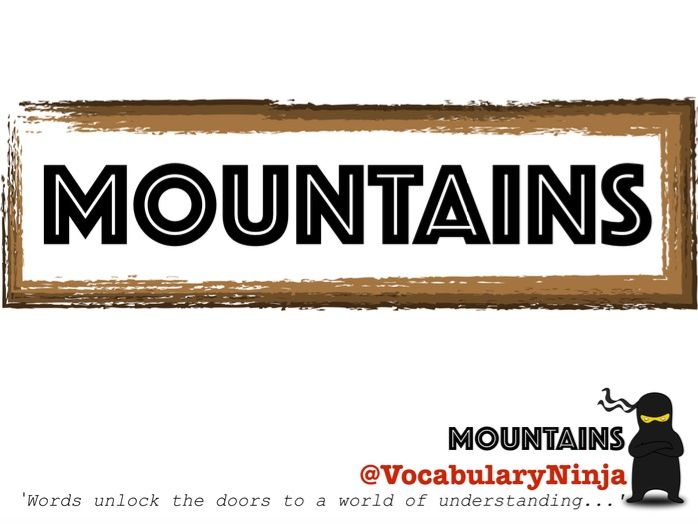 Mountains Topic Vocabulary Packs