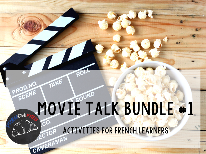 Movie Talk bundle #1 for French learners