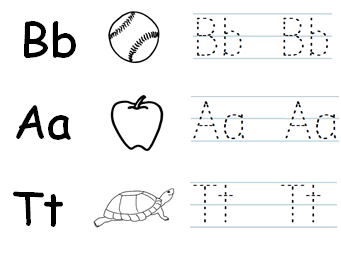 Phonics Worksheet - Letters B, A, T