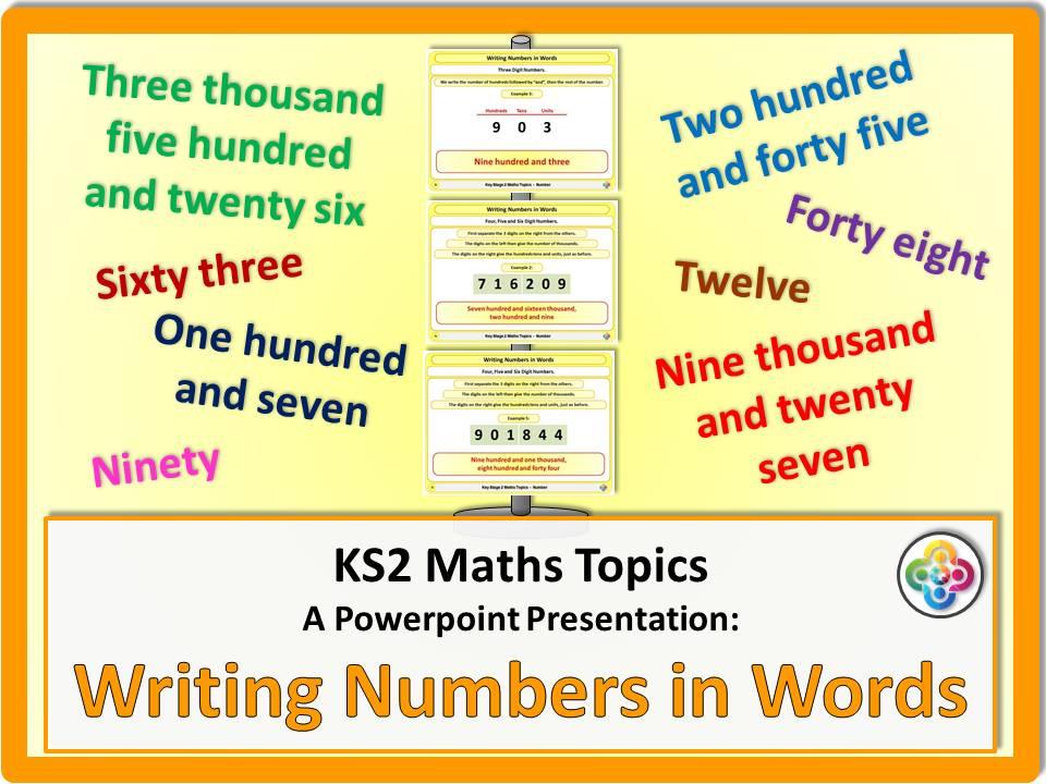Writing Numbers in Words KS2