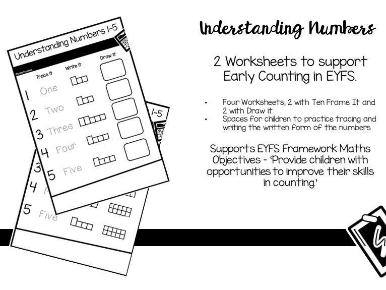 Understanding Numbers 1 - 10