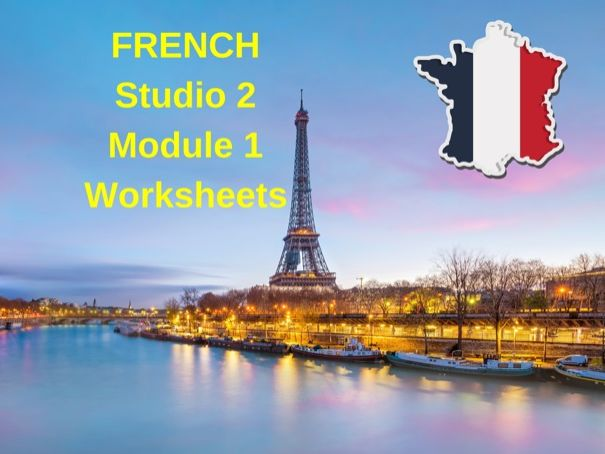 FRENCH Studio 2 Module 1 Work booklet