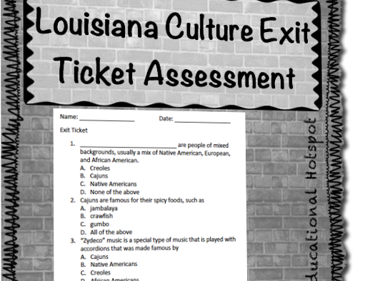 Louisiana Cultures Exit Ticket Assessment