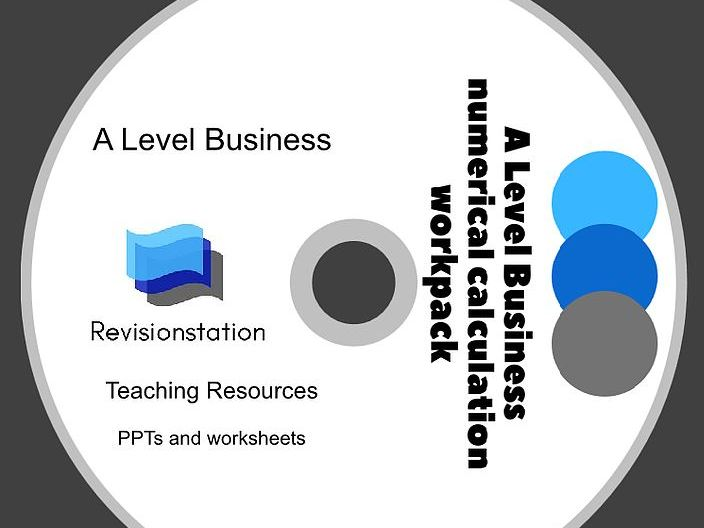 Remote teaching pack for A Level Business numerical calculations