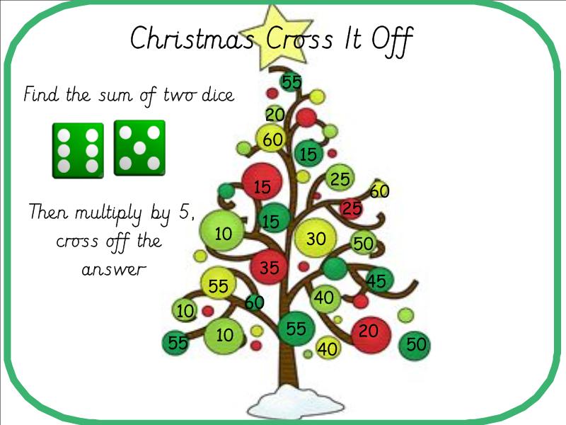 Christmas Tree 5 Times Table Game
