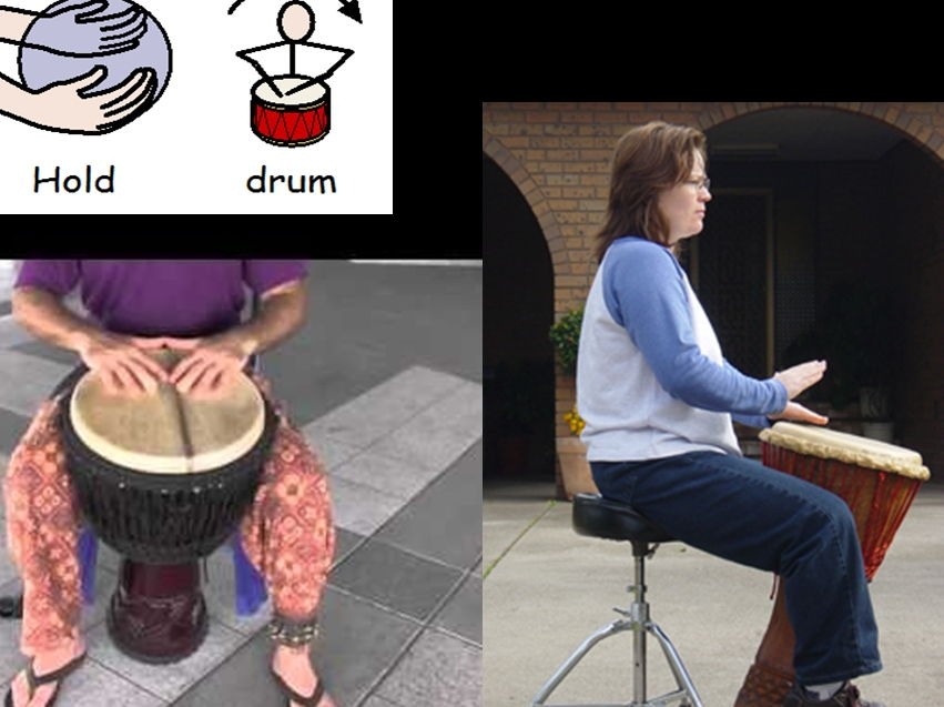 Interactive djembe drumming lesson resources - automatically teaches them and you!