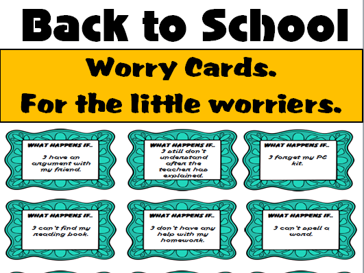 Back to School- Worry Cards