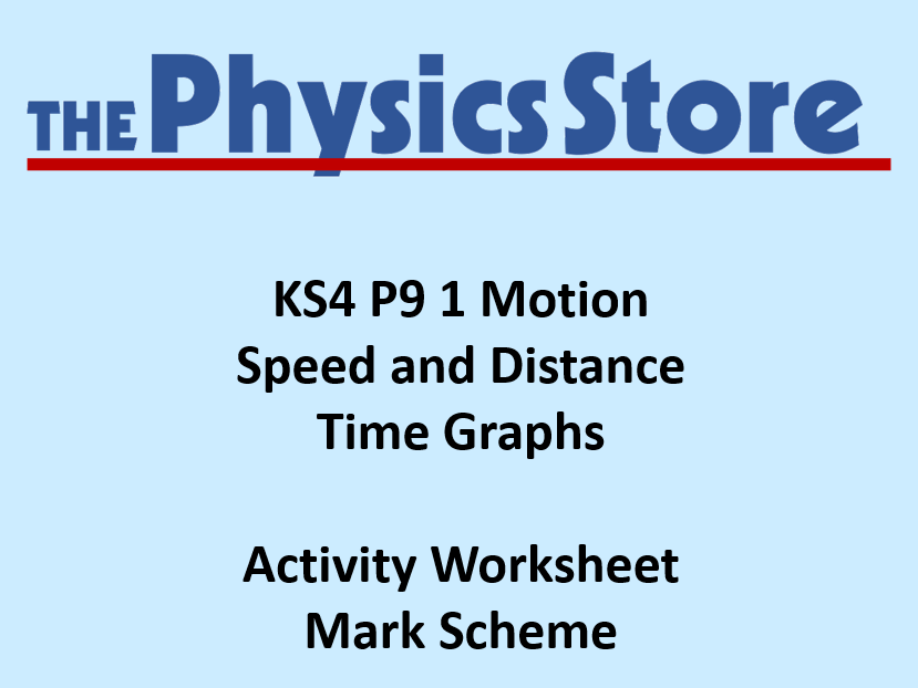 Distance time graphs worksheet ks4