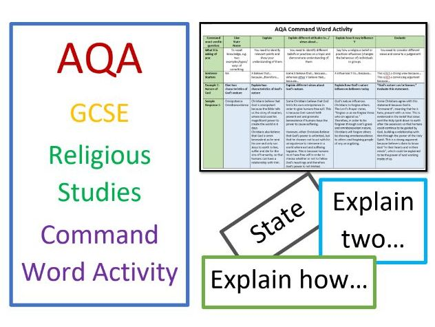 AQA GCSE Religious Studies Command Word Activity