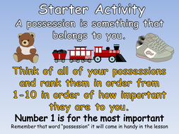 KS1 Possessive Apostrophes - Year 2 N.C Apostrophes to Mark Singular Possession in Nouns.
