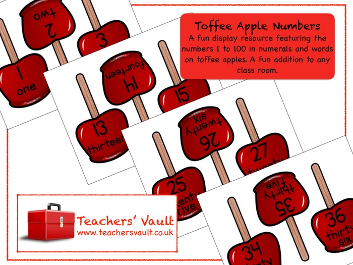 Toffee Apple Numbers Display
