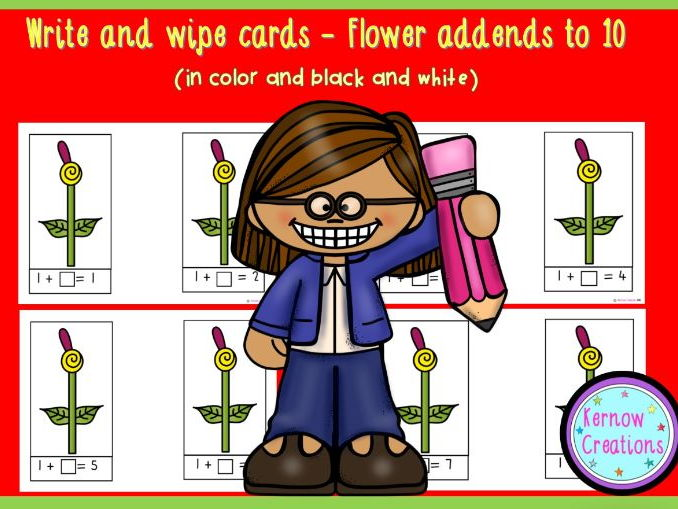 Write and Wipe Addends to 10