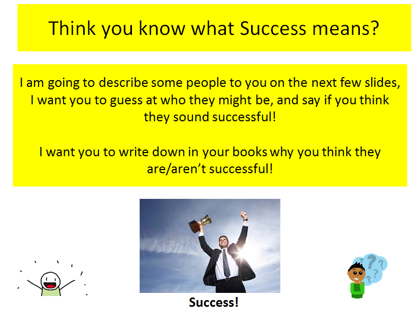 What is Success? A Life Skills/Citizenship lesson for students