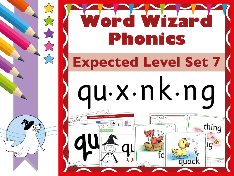 Word Wizard Phonics Expected Set 7: qu.x.nk.ng