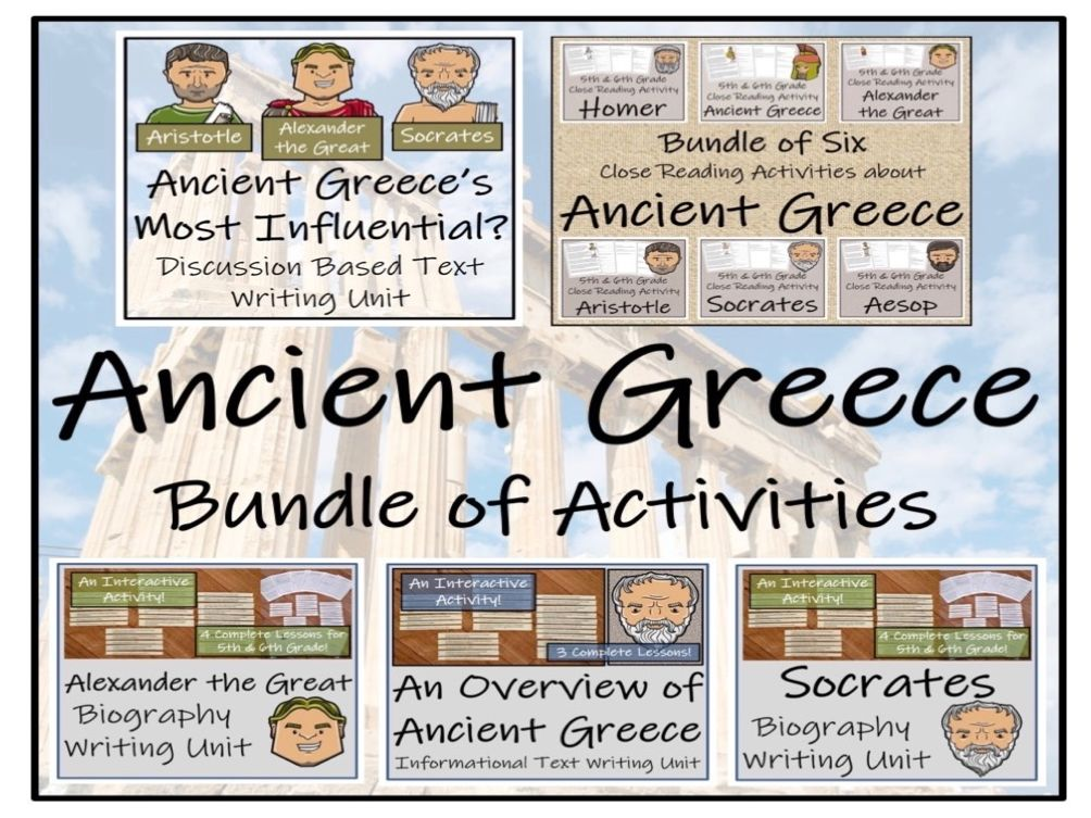 UKS2 History - Ancient Greece Mega Bundle of Activities