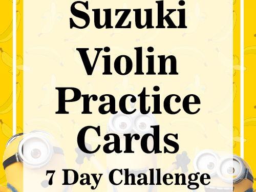 Suzuki Violin Task Cards