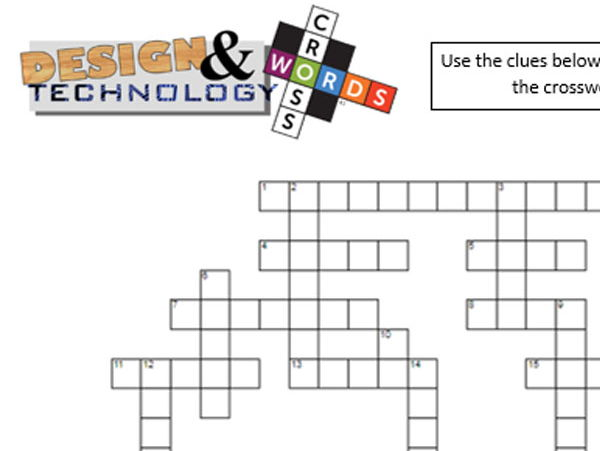 DT crossword - Tools and Materials