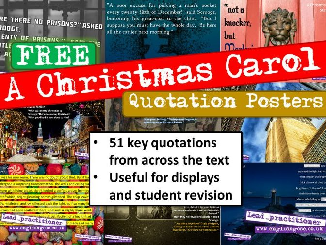 A Christmas Carol Quotes Display Revision | Teaching Resources