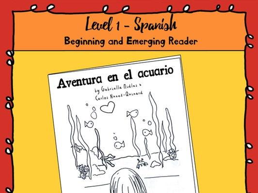 Emerging Reader Book Series: Aquarium Adventure (Aventura en el acuario)-Spanish