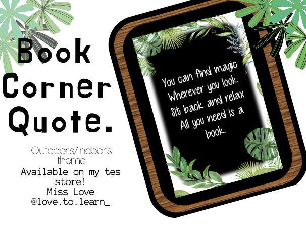 Book corner quote