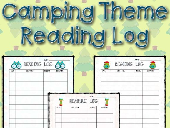Camping Theme Reading Log