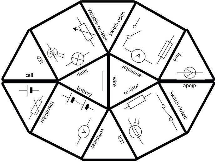 Tarsia Puzzle For Circuit Symbols